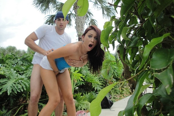 image Fantasyhd outdoor park fuck with skinny brunette rebel lynn